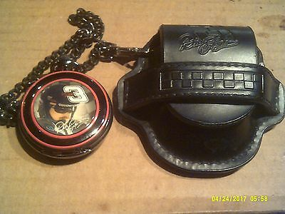 Franklin Mint  Dale Earnhardt Pocket Watch  With Carrying Case