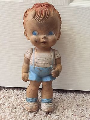 Vintage Ruth E Newton Boy Blue Collection Doll. Y Sun Rubber Company Used