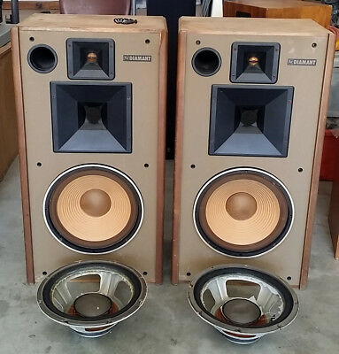 vintage pair rare speakers EV Diamant Switzerland CH-2560 Nidau Electrovoice