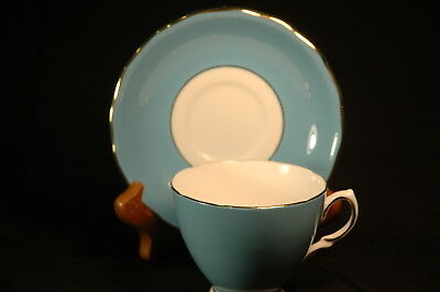 Colclough Blue Gold  Cup and Saucer