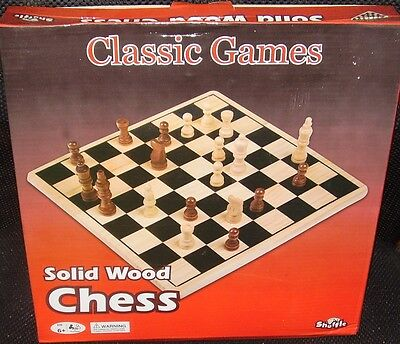 Game ~ Classic Solid Wood Chess ~ New ~