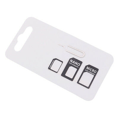 Universal Micro Sim Card Adapter Converter Kit Set With Pin for iPhone Samsung