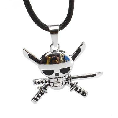 Anime One Piece Strawhat Pirate Roronoa Zoro Pendant Alloy Necklace Cosplay Gift