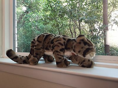RARE Steiff 665875 Clouded Leopard Smithsonian Ltd. Ed.  # 79/1500  WITH TAGS