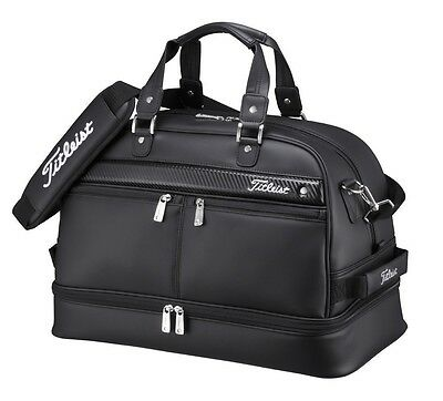 TITLEIST Boston Bag Sports Gym Travel AJBB67-BK Black W/Shoes Pocket From Japan