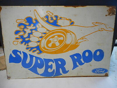 Ford Super Roo Large Tin Sign 70's Bathurst  One Of Only 2 Made