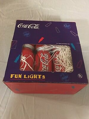 Coca-Cola Fun Lights, Indoor and Outdoor Can Sized Lights in Box, 12' String