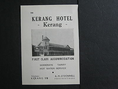 Kerang Hotel , A O'Donnell