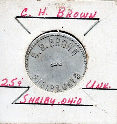U.S. Trade Token 25 cent C.H. Brown Shelby Ohio