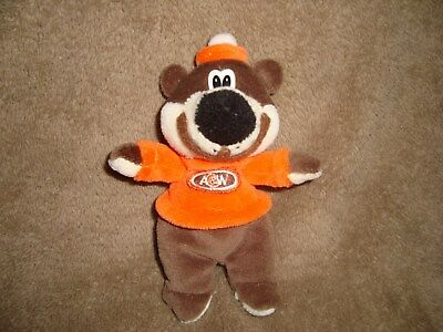 A&W Bear W/ Felt Mouth Resturant Collectible Small Plush Beanbag 5.5""