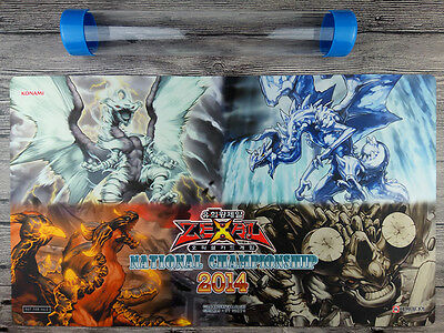 2014OCG Dragon Ruler YuGiOh Playmat Trading Card Game Mat Free High Quality Tube