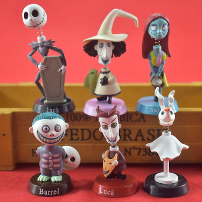 6pcs/set The Nightmare Before Christmas Jack Sally Zero PVC Toy Action Doll 7cm