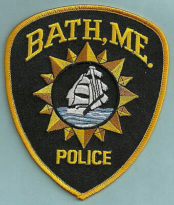 Bath Maine Police Patch Sailing Ship!