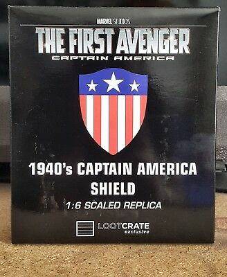 Loot Crate Exclusive 1940's Captain America Shield Marvel 1:6 Scaled Replica