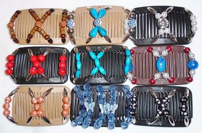 """Double Magic Mini Hair Combs, Angel Wings Clips, 3.x2.5"""", Butterfly, Quality MC6"""