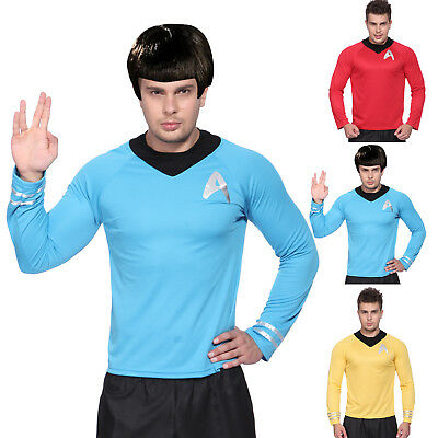 Gents Mens Star Trek Startrek Movie Scotty Kirk Spock Fancy Dress T-Shirt