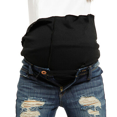 Maternity Pregnancy Belly Belt Band Adjustable Elastic Waist Extender for Pants