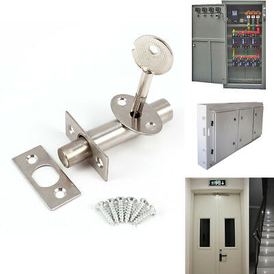 2x Door Security Rack Bolt And Star Key Stainless Steel with Screws Fitting Sets
