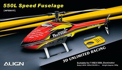 Align T-Rex 550L Speed Fuselage – Red & Yellow