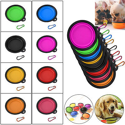 Pet Dog Collapsible Feeding Bowl Travel Portable Silicone Water Dish Feeder