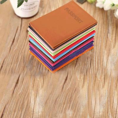 Leather Passport Travel Organizer holder RFID card Case Protector Cover Wallet T