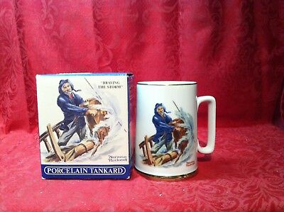 Norman Rockwell Braving the Storm Porcelain Tankard