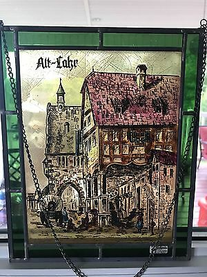 Vintage Stained Glass Art Leaded German Stained Glass Rare