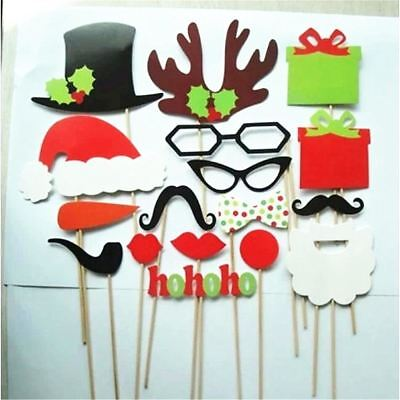 17Pcs Paper Christmas Hat Funny Interesting Party Photography Props Kids Toys De