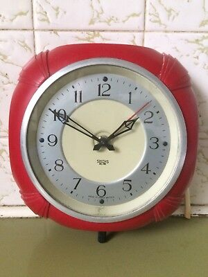 VINTAGE ART DECO, SMITHS SECTRIC ELECTRIC WALL CLOCK BAKELITE , 40s 50s.,Working