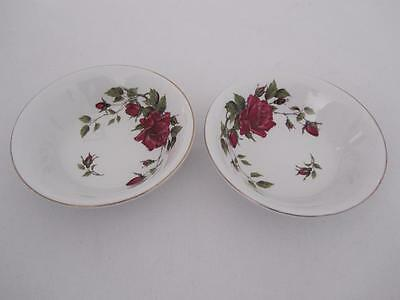PAIR Vintage ALFRED MEAKIN Glo-White Rose DISHES