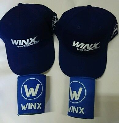 Two Winx Caps And Two Stubby Holders