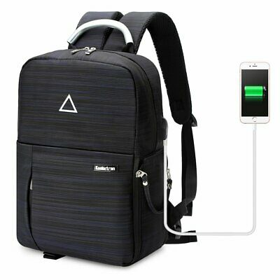 Multi-function Nylon DSLR Camera Bag USB Charge Photography Bag Travel Backpack