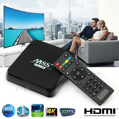 Ultra HD Latest KODI(XBMC) Fully Loaded M8S+ Android Smart TV Box Quad Core CPU