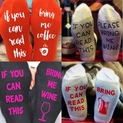 IF YOU CAN READ THIS BRING ME A GLASS OF WINE For Womens Mens Funny Sport Socks
