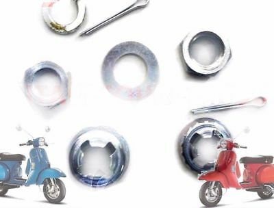 Vepsa Lml Px Star Stella Rear & Front Hub Wheel Nut & Washer Kit @de