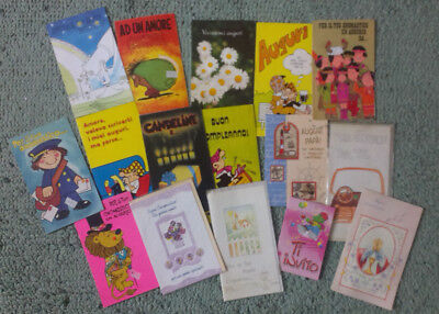 Job lot of vintage cards Lotto 2 Biglietti auguri onomastico Andy cap NUOVO