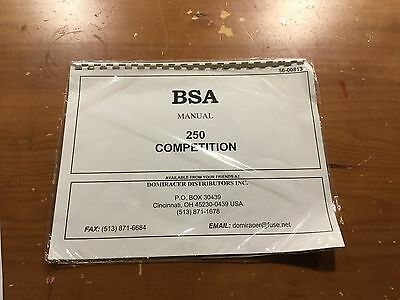 Bsa 250 Competition Manuale 813 [3-21-5]