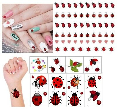 Ladybird -  Ladybug Collection Nail Art - Temporary Tattoo
