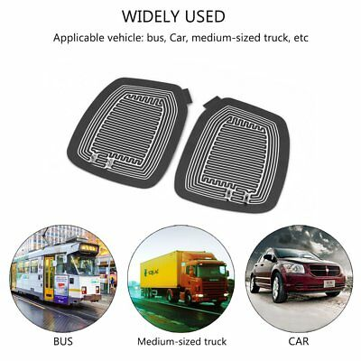 2X Vehicle Glass Mirror Rear-view Mirror Heated Pad Best for winter driving