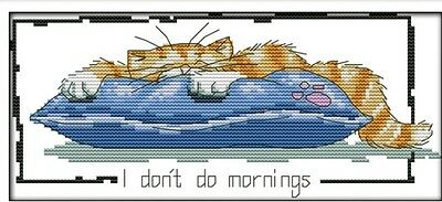 Little Lazy Cat. 14CT Counted Cross Stitch Kit. Craft Brand New.