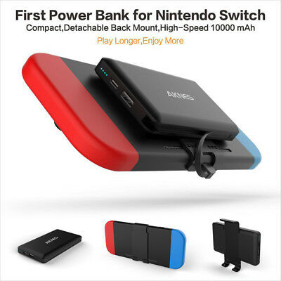 10000mAh Extra Battery Backup Power Bank Charging Charger Pack F Nintendo Switch