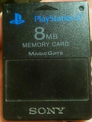 memory card ps2 originale sony 8mb