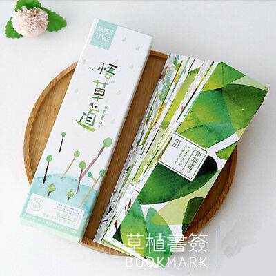 30 Pcs/Box New Creative Plant flowers style Paper Bookmark Message Card Gifts
