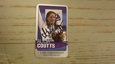 Alicia Coutts Hand Signed Australian Swimming Card