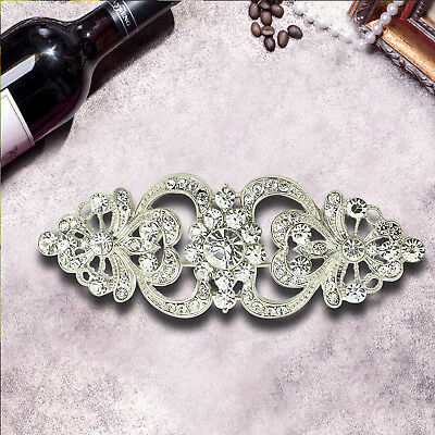 Brooch Pin BR296 Vintage Style Bridal Wedding Bouquet Shiny Flower Diamante