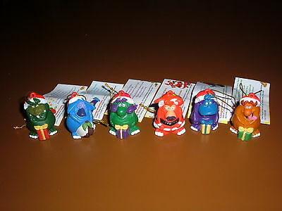 1999 Yowie Xmas Men Set Of 6 With Papers  Excellent