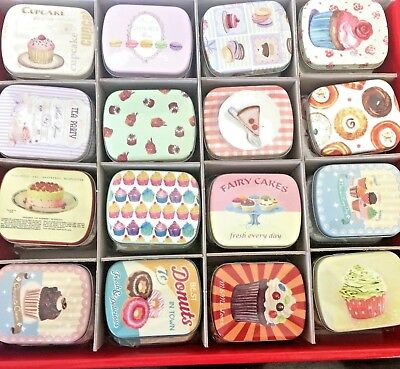 Pill Box Tin Tablet Storage Pill Case Trinket Container CC