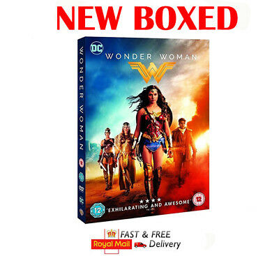 Wonder Woman DVD 2017 Gal Gadot New Boxed Sealed Fast Delivery Same Day Dispatch