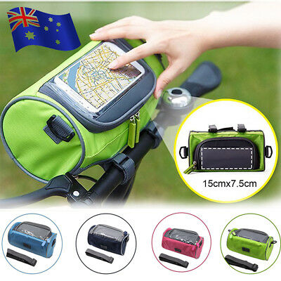 Cycling Bike Bicycle Touch Screen Package Front Phone Holder Tube Bag + Strap