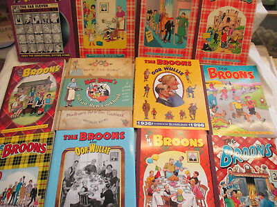 13 x The Broons + Oor Willie Annuals 77 81 85 87 90 93 97 07 + Specials